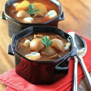 Slow Cooker Goulash Soup with Dumplings