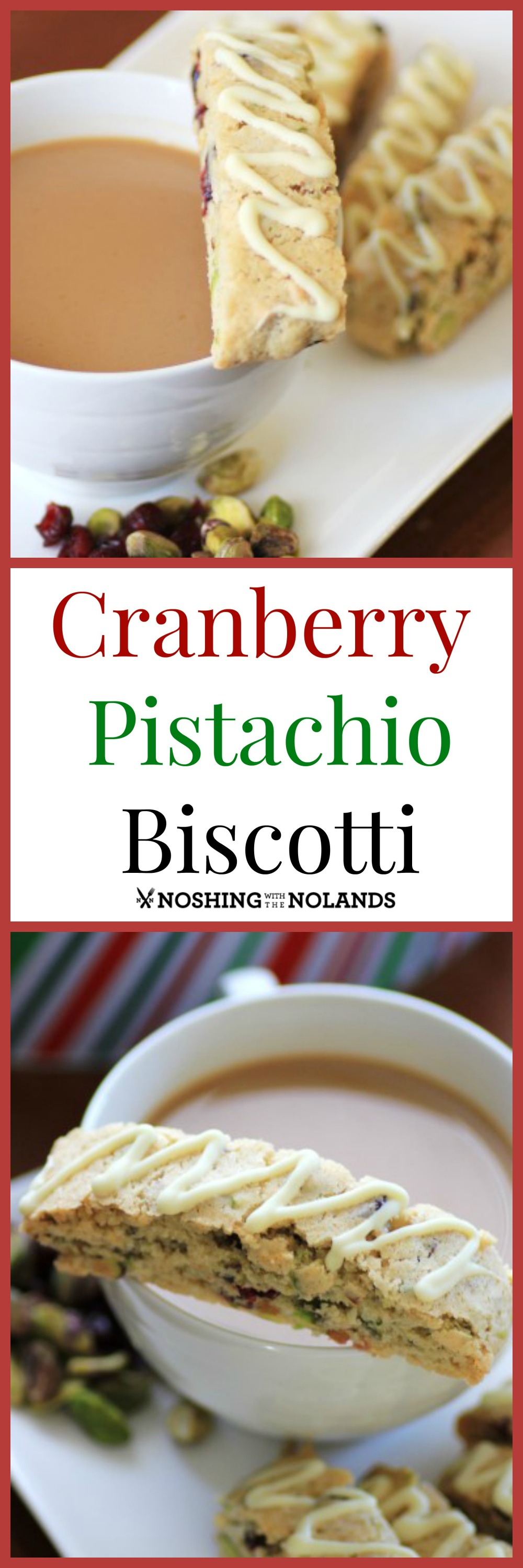 Cranberry Pistachio Biscotti #ChristmasWeek #Freund