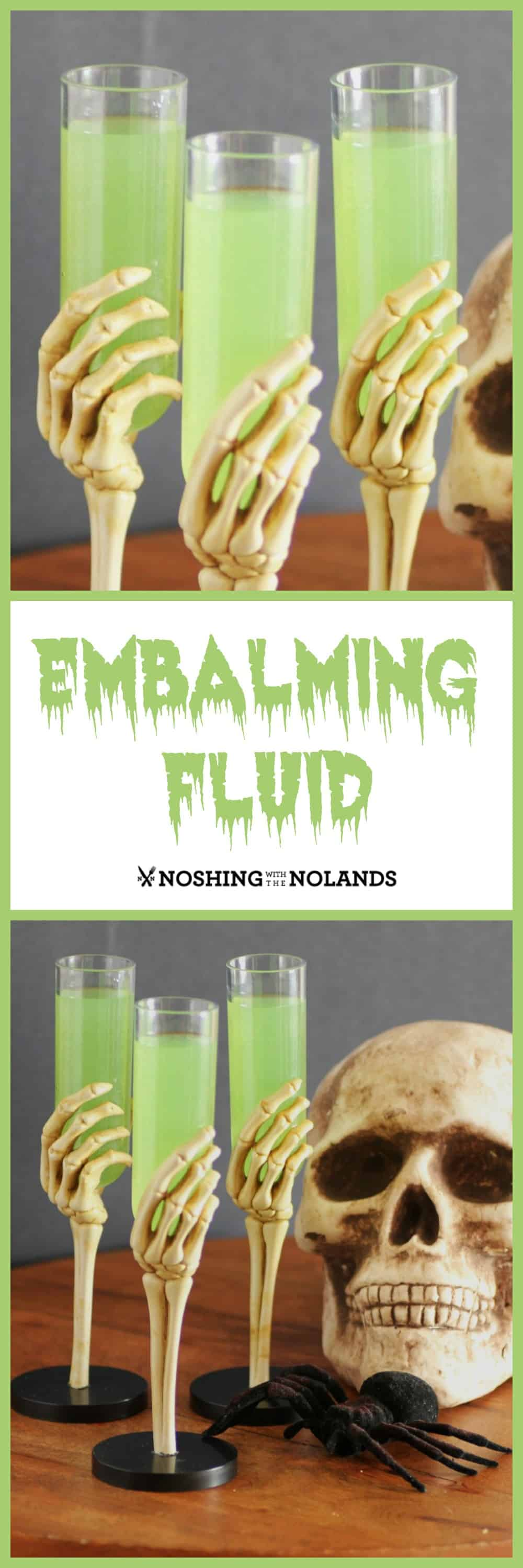Embalming fluid cocktail for halloween fun for adults for Halloween green punch recipes alcoholic