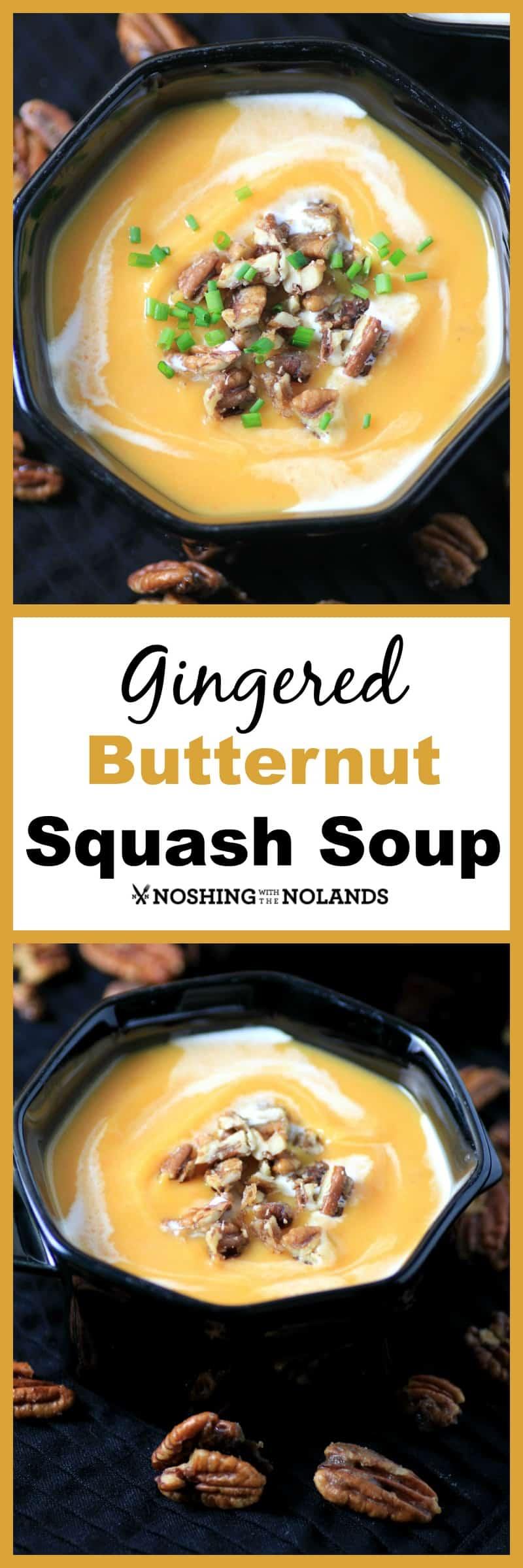 Gingered Butternut Squash Soup #SundaySupper