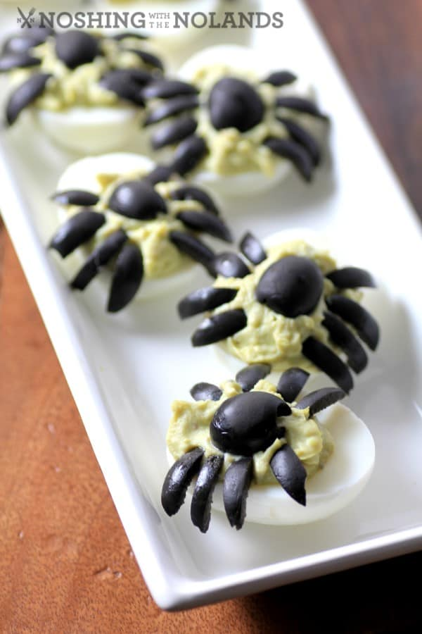 Spider Guacamole Eggs by Noshing Wtih The Nolands