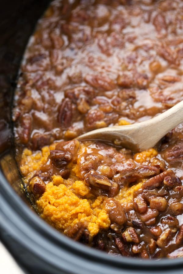 Slow Cooker Sweet Potato Casserole by Chelsea's Messy Apron