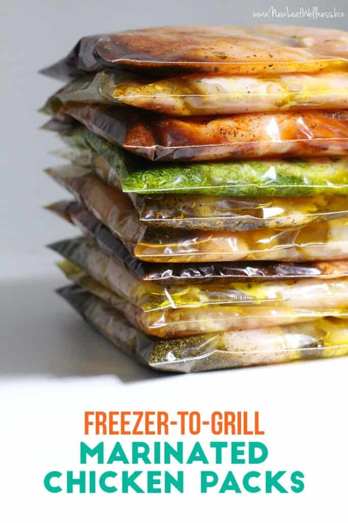Freezer to Grill Marinated Chicken Packs