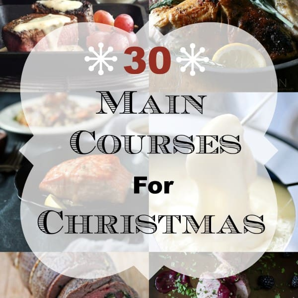 30 Main Courses for Christas Square Collage (Custom)