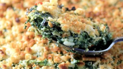Comfort Spinach Egg Casserole #CanadianEggs