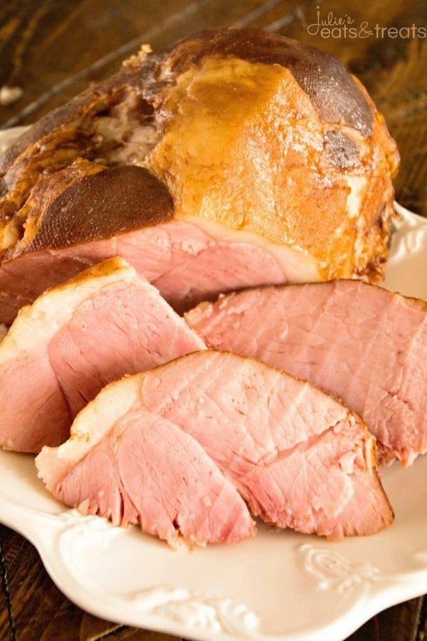 Crock Pot Honey Glazed Ham by Julie's Eats and Treats