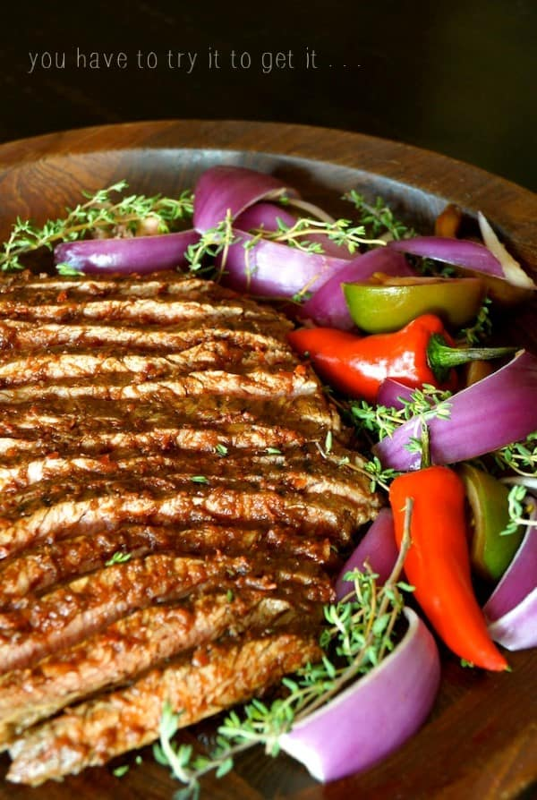 Red Goddess Grilled Flank Steak Recipe by Cooking on the Weekends