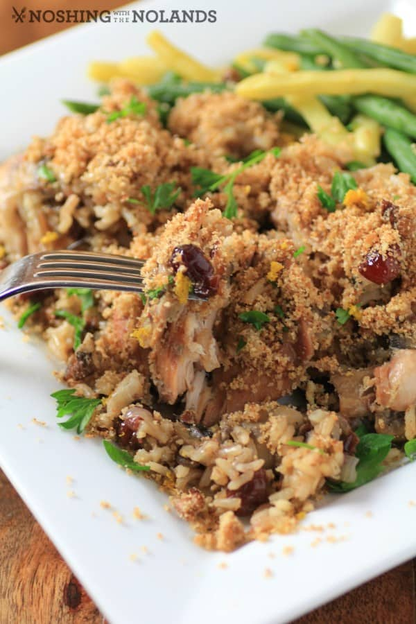 Slow Cooker Chicken Rice and Cranberries by Noshing With The Nolands