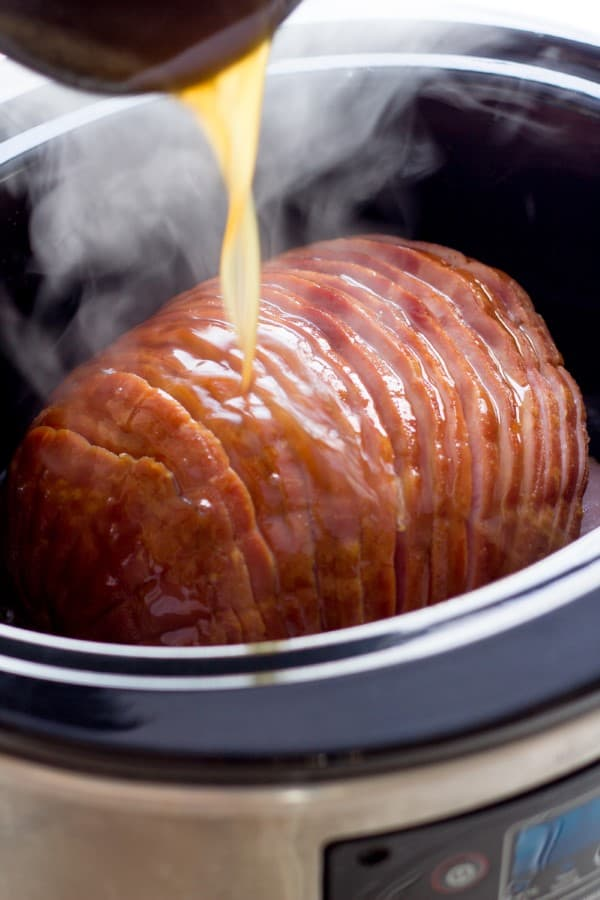 Slow Cooker Honey-Glazed Ham by Back To Her Roots