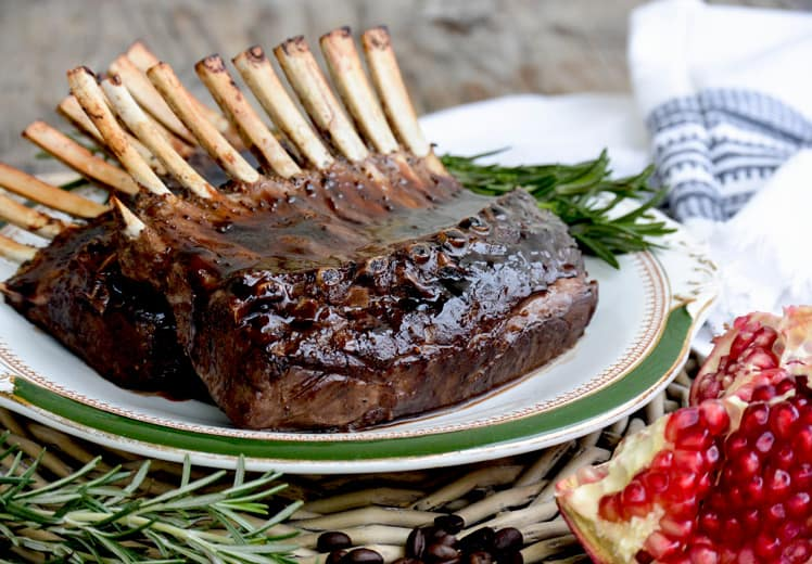 Rack of Lamb with Pomegranate-Coffee Sauce by Floating Kitchen