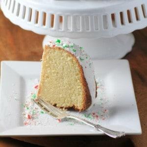 White Hot Chocolate Peppermint Bundt #BundtBakers