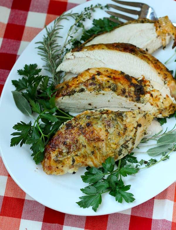 Herb Roasted Turkey Breast by Rachel Cooks