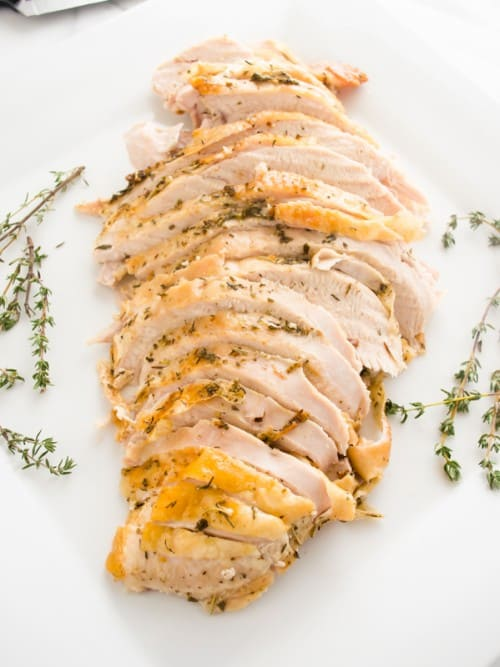 Simple Herb and Garlic Roasted Turkey Breast by Flavor The Moments