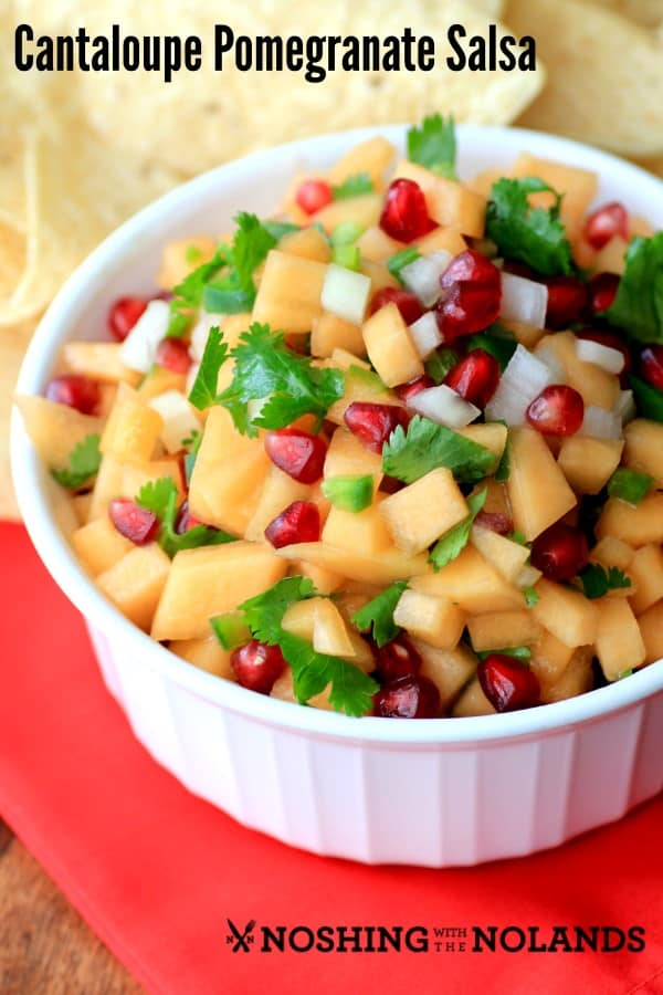 Cantaloupe Pomegranate Salsa by Noshing With The Nolands