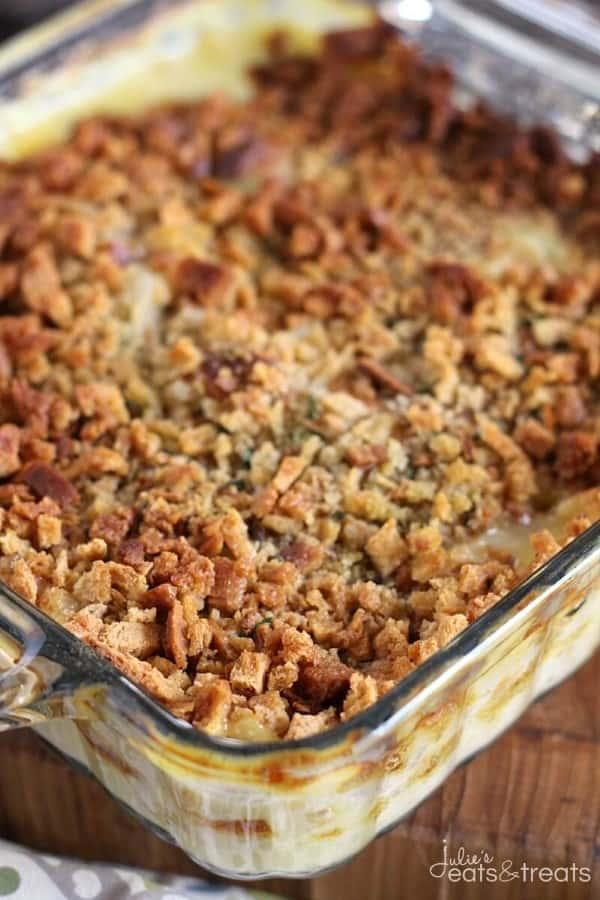 Cheesy Chicken Stuffing Casserole Recipe by Julie's Eats & Treats