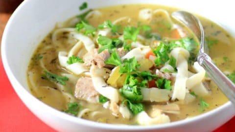 Easy Light Turkey Noodle Soup