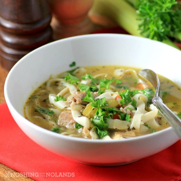 Easy Light Turkey Noodle Soup by Noshing With The Nolands