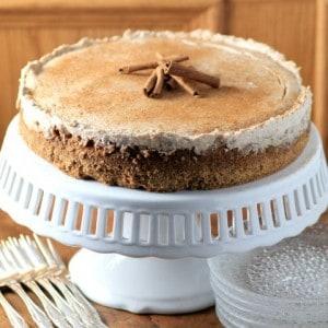 Eggnog Cheesecake #ScrambledPlan