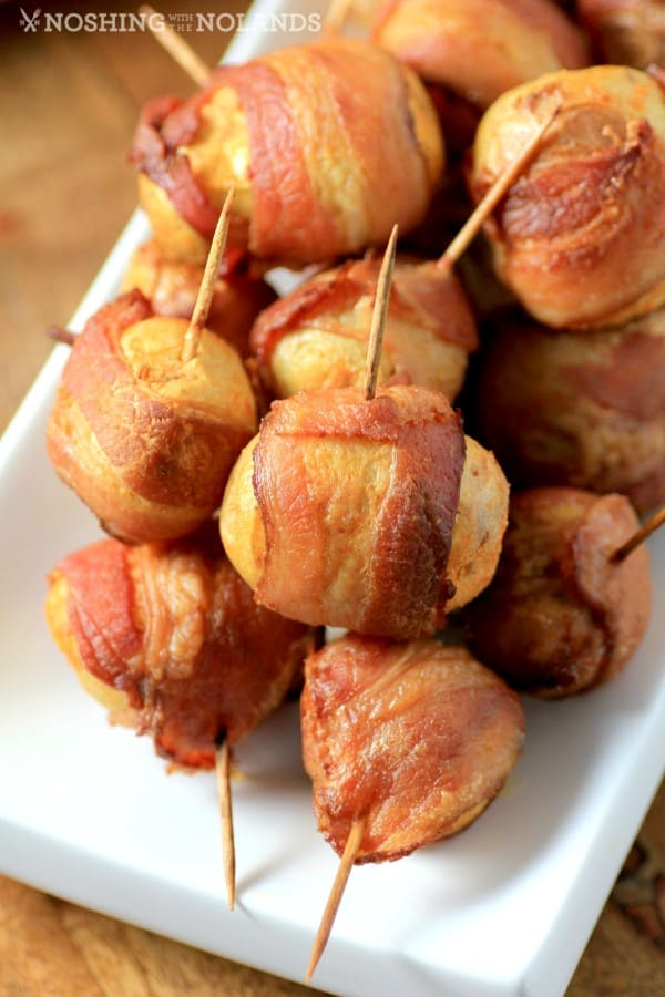 Spicy Bacon Wrapped Little Potatoes by Noshing With The Nolands