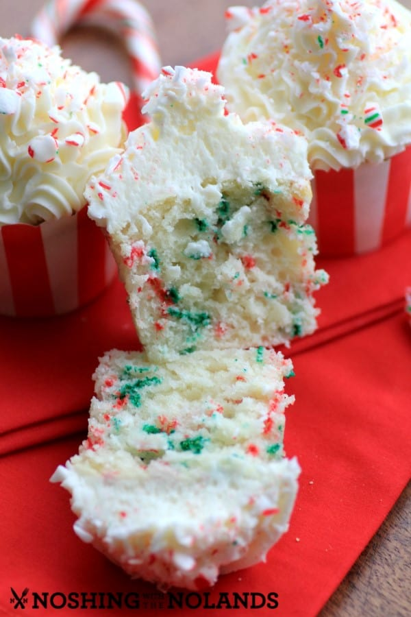 Vanilla Candy Cane Cupcakes by Noshing With The Nolands5 (Custom)