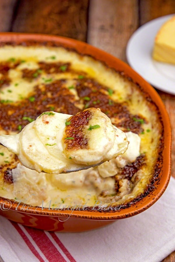 Scallop Potatoes Gratin by The Midnight Baker