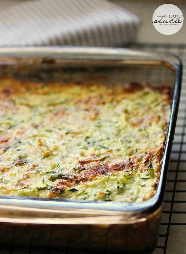 Cheesy Zucchini Bake by Simply Stacie