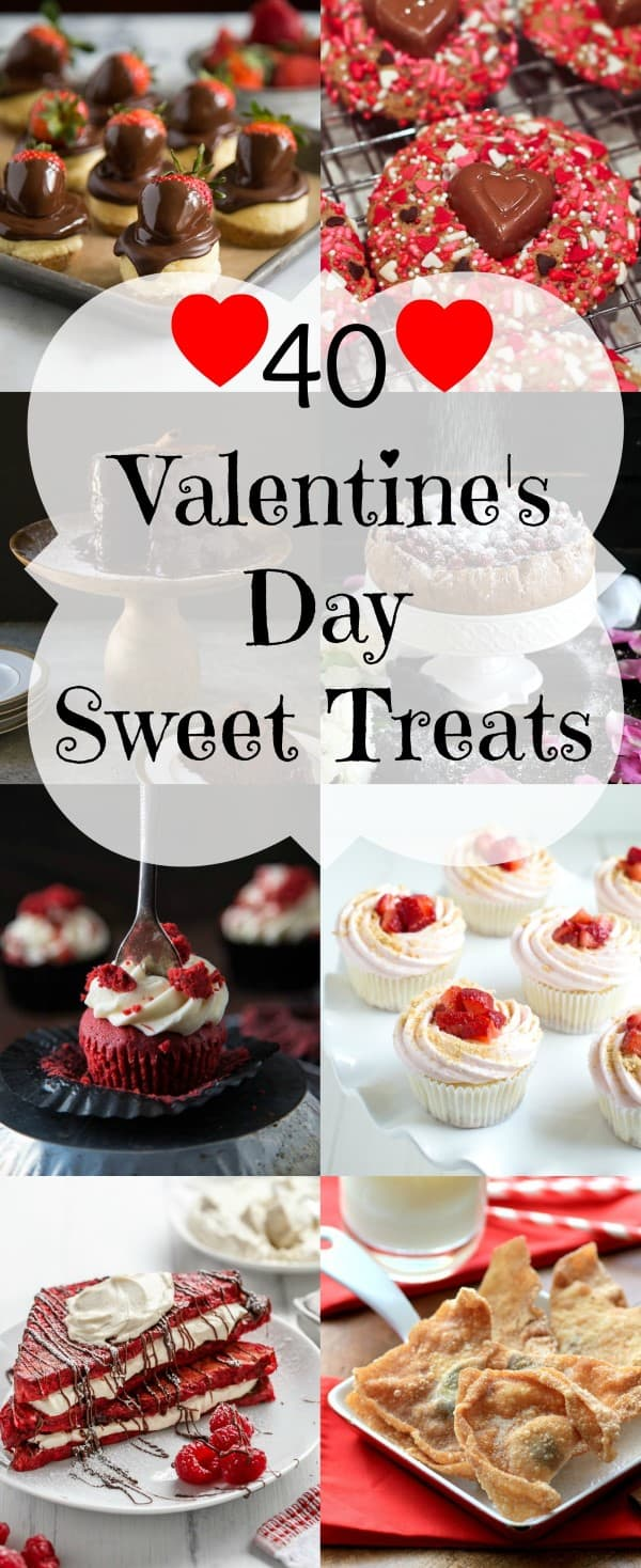 40 Valentines Day Sweet Treats Collage (Custom)