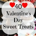 40 Valentine's Day Sweet Treats Square Collage (Small)