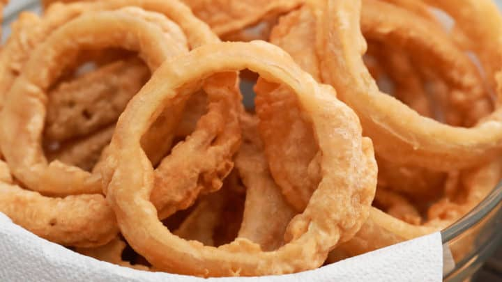 Beer-Battered Onion Rings with Southern BBQ Sauce
