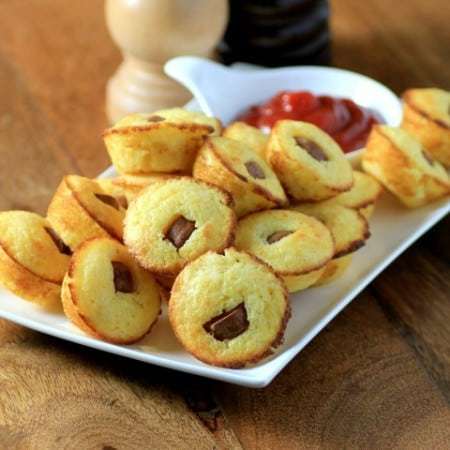 Corn Dog Muffins by Noshing With The Nolands 480x480