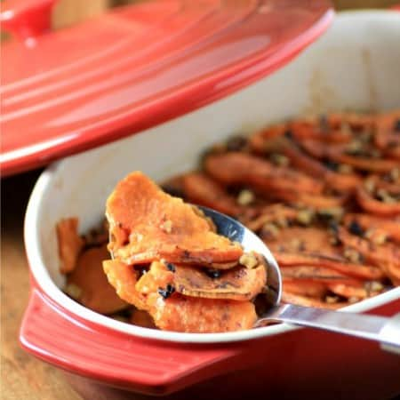 Roasted Sweet Potato Medallion Casserole by Noshing With The Nolands 480x480