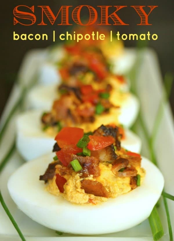 Smoky-Tomato-Bacon-Chipotle-Deviled-Eggs-chives-green-white-hard ...