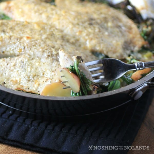 Tilapia Potatoes and Leeks by Noshing With The Nolands