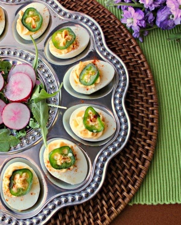 WA egg tray and sriracha deviled eggs 3