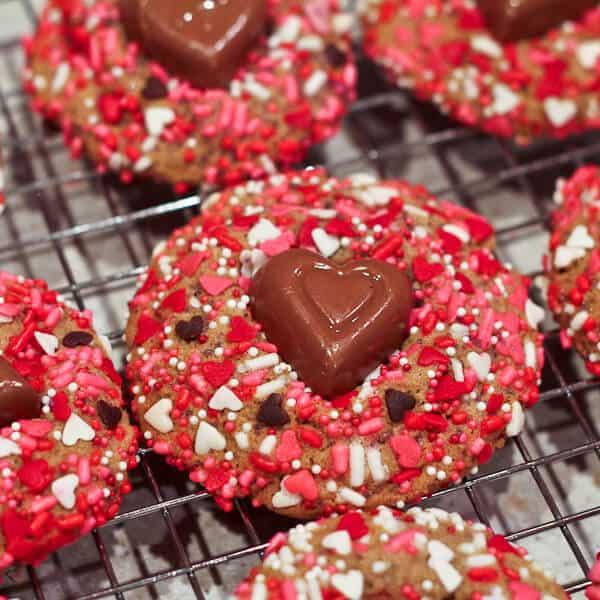 vanilla Valentines day cookies