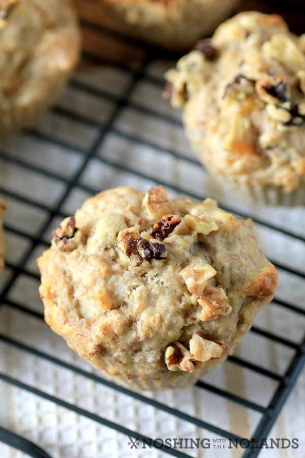Banana Arpicot Walnut Muffins by Noshing With The Nolands