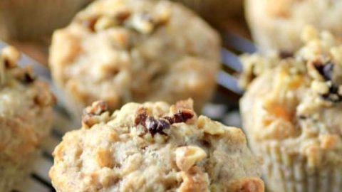 Banana Apricot Walnut Muffins