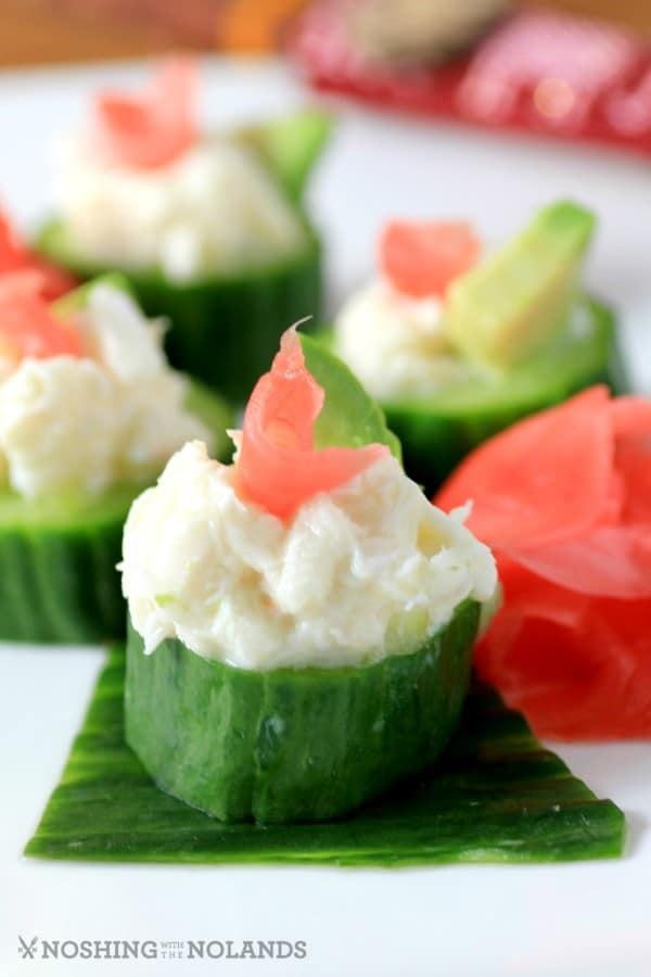 Crab Cucumber Appetizer Cups by Noshing With The Nolands (2) (Custom)