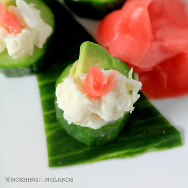 Crab Cucumber Appetizer Cups by Noshing With The Nolands (3) (Custom)