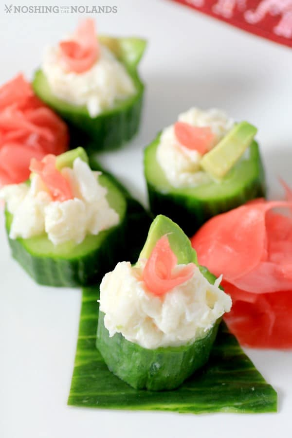 Crab Cucumber Appetizer Cups by Noshing With The Nolands (Custom)