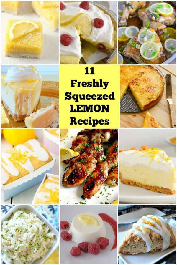 11 Freshly Squeezed Lemon Recipes