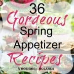 36 Gorgeous Spring Appetizers Collage Square (Custom) (Small) (Custom)