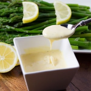 Asparagus with Easy Blender Hollandaise Sauce