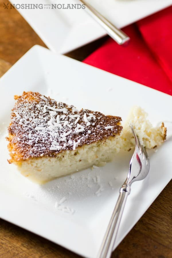Impossible Coconut Rum Pie by Noshing With The Nolands