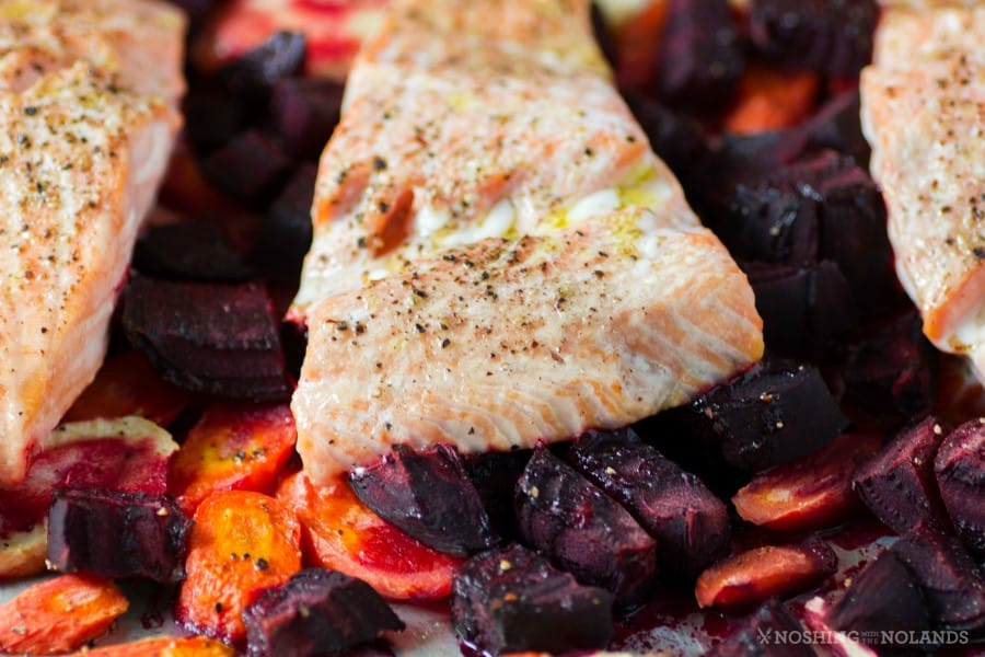 -Roasted Salmon and Root Vegetables with Horseradish Sauce 2 (Custom)