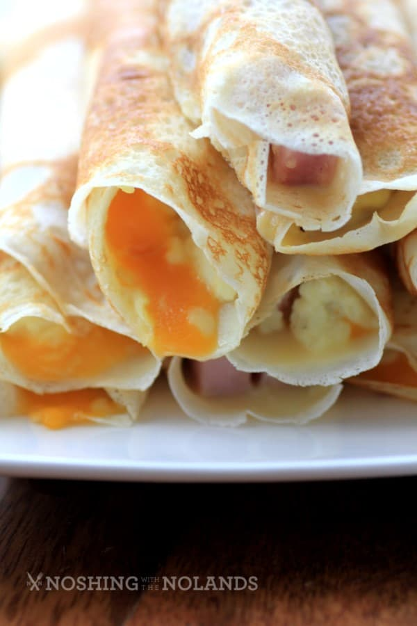Egg Ham and Cheese Stuffed Crepes by Noshing With The Nolands