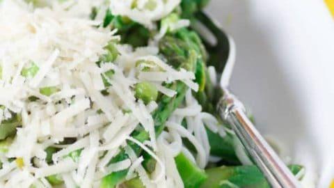 Fresh Asparagus Pea Lemon Pasta