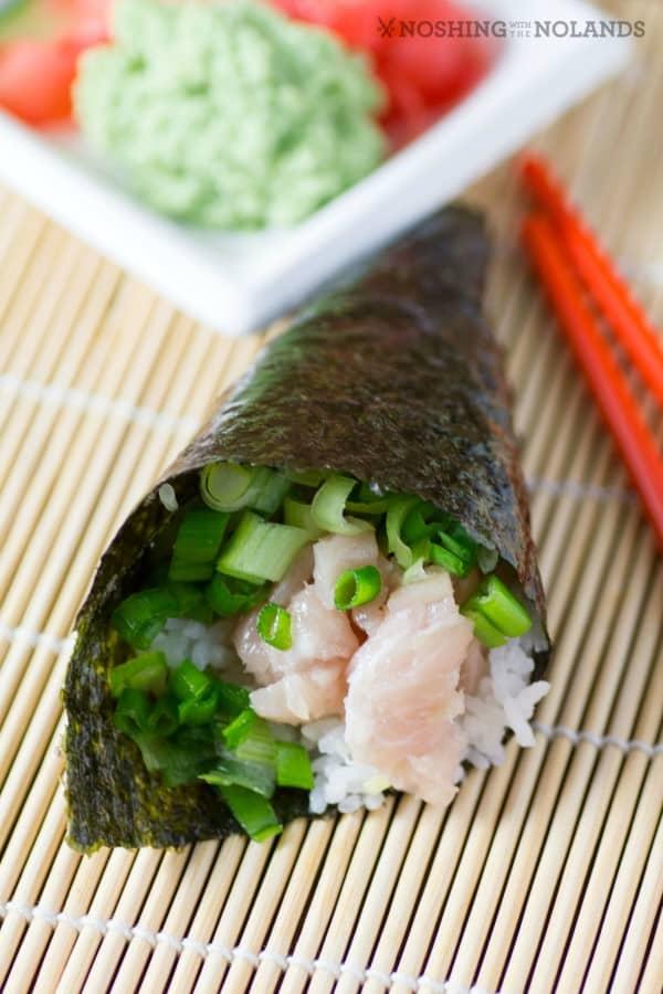 Toro Green Onion Hand Sushi Rolls