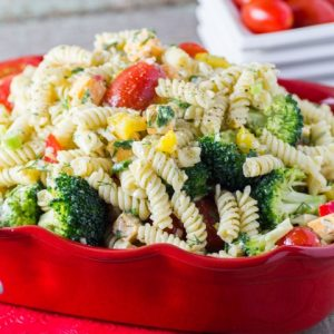 Best Three Cheese Ranch Pasta Salad – Real Housemoms