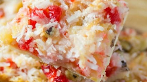 Pineapple Coconut Cherry Dream Bars